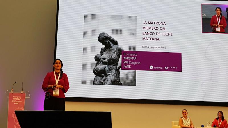 agam congreso fame oviedo 2018 matronas galegas diana luque banco leite materno