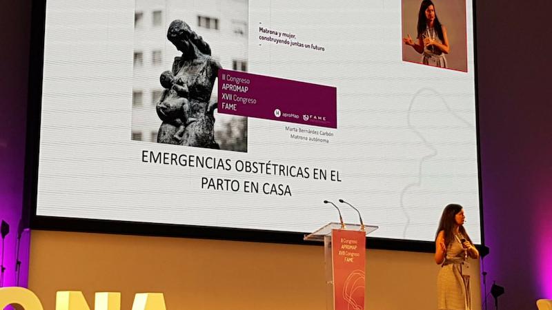 agam congreso fame oviedo 2018 matronas galegas marta bernardez emergencias obstetricas