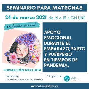 Webinar Apoio Emocional en tempos de pandemia para matronas AGAM 24 marzo 2021