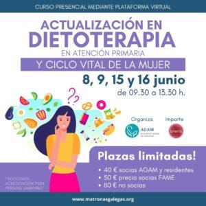Curso dietoterapia AP y ciclo vital de la mujer AGAM Aleris junio 2021