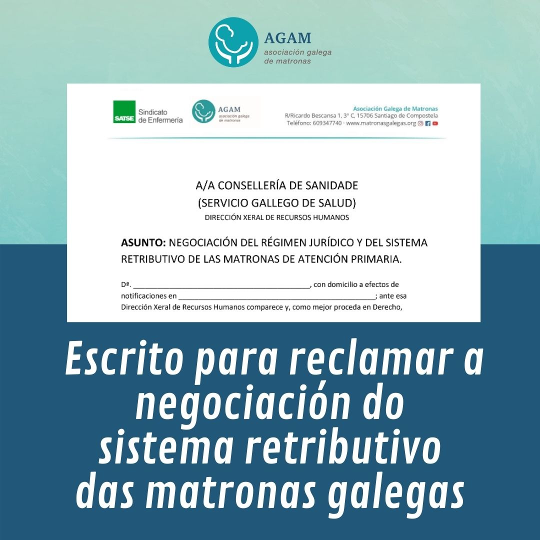 Reclamacion sistema retributribo matronas 2021 satse agam banner