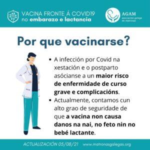 Por que vacinarse embarazo lactancia AGAM matronas galegas 050821