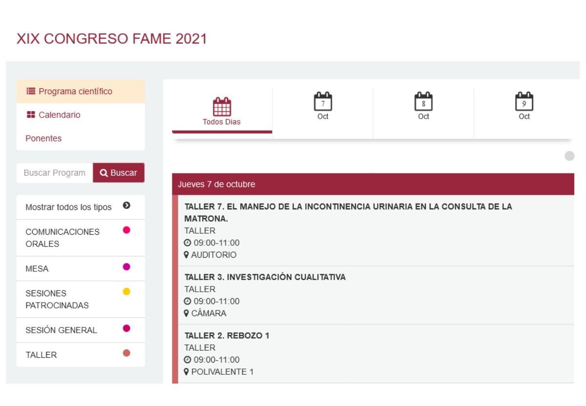 Congreso FAME 2021 AMALAR La Rioja matronas_talleres